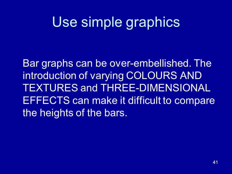 Use simple graphics