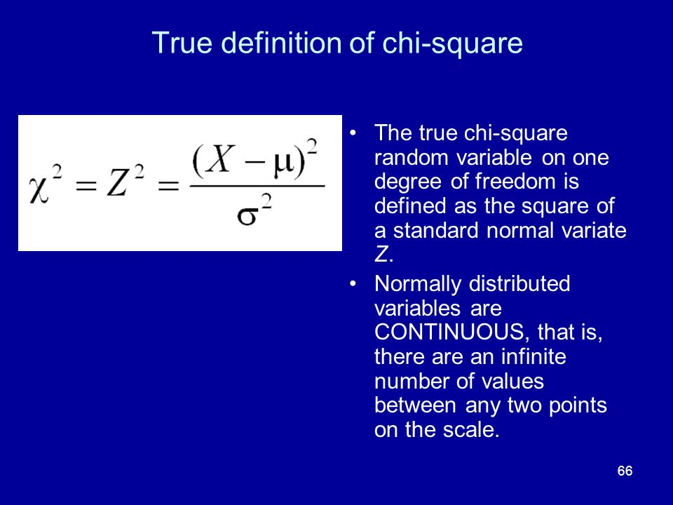 True definition of chi-square