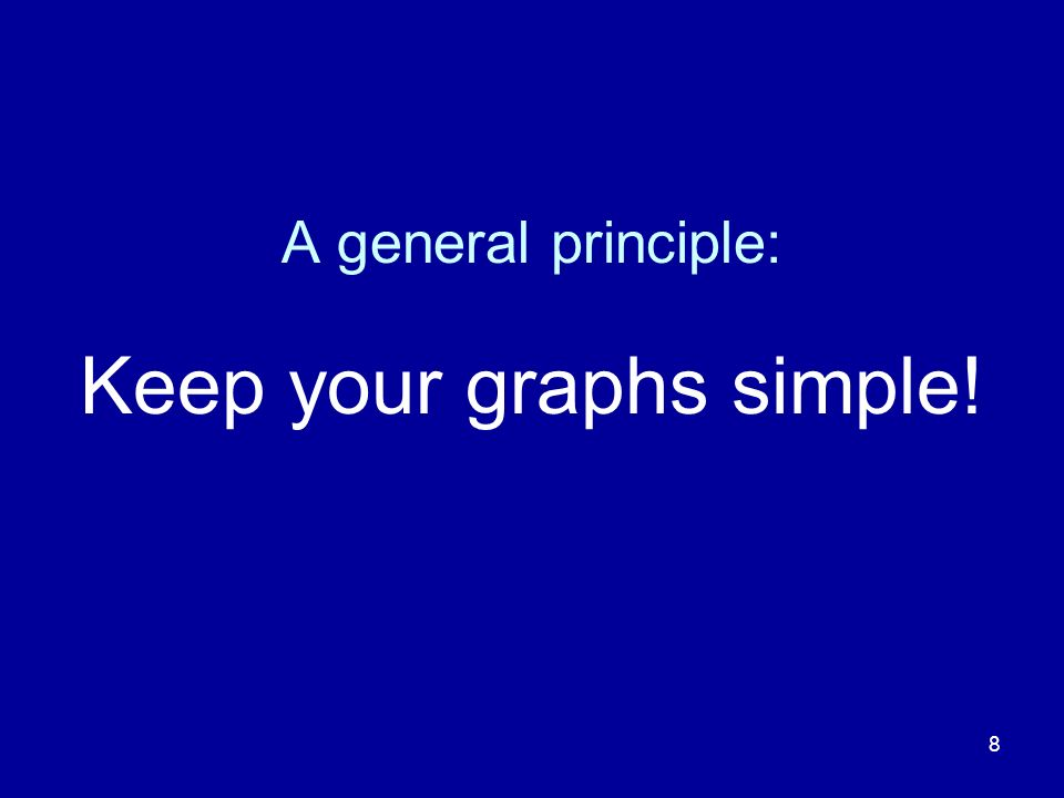 Keep your graphs simple!