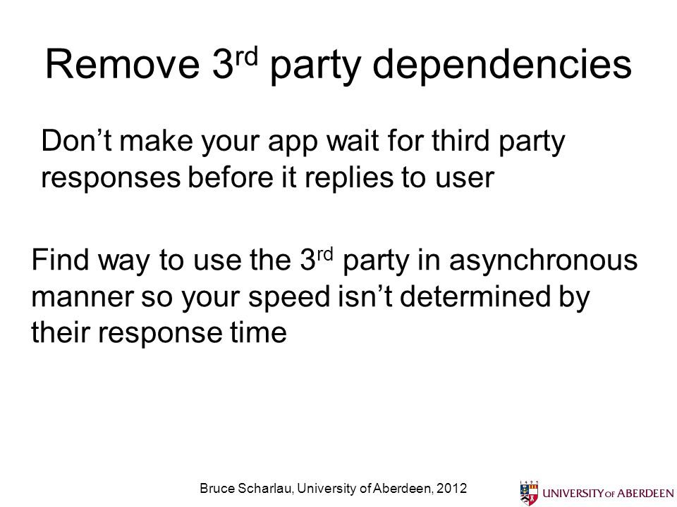 Remove 3rd party dependencies