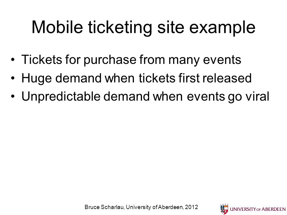 Mobile ticketing site example