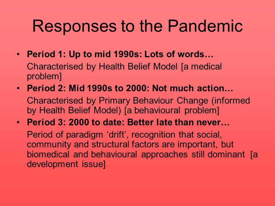 Responses to the Pandemic