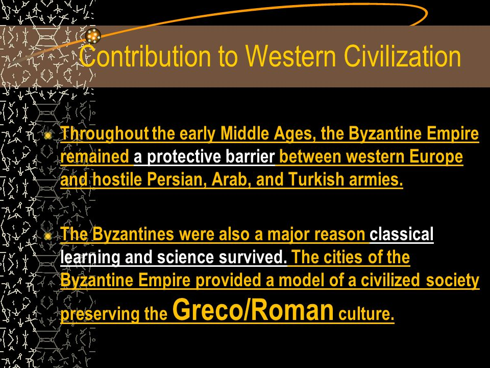 Contribution to Western Civilization