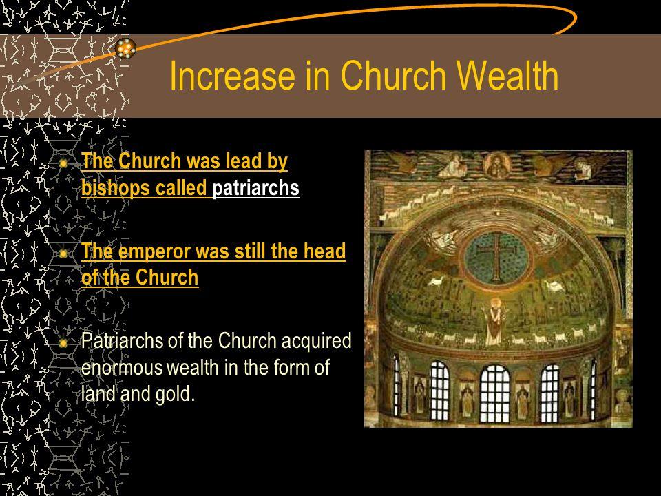 Increase in Church Wealth