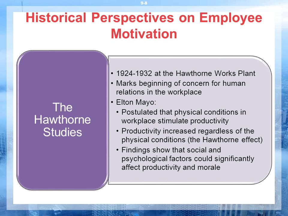 Historical Perspectives on Employee Motivation