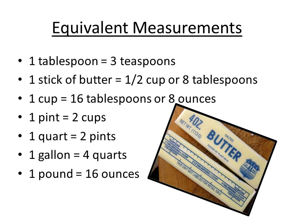 Top 28+ - 1 Stick Of B...1 2 Cup Butter Equals How Many Tablespoons