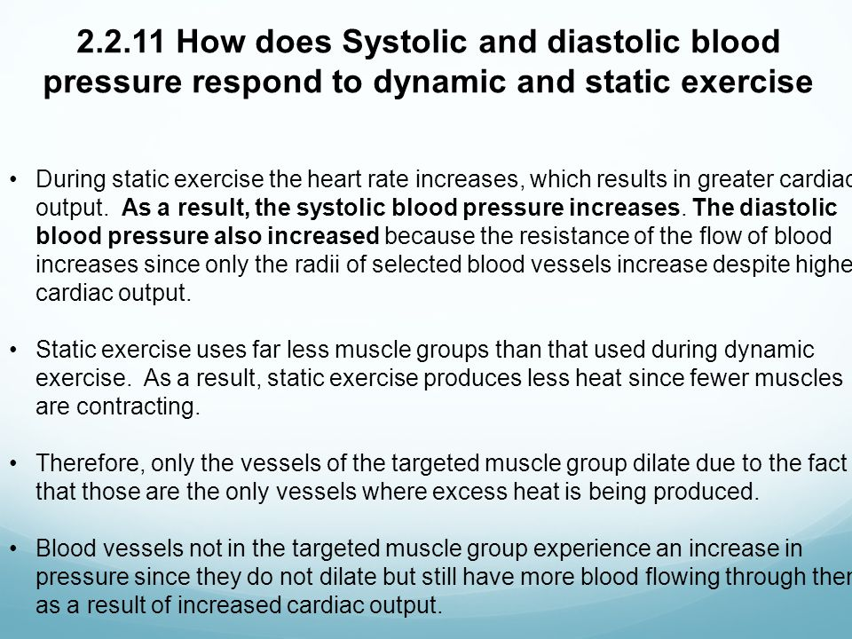 """effect of exercise on arterial blood pressure Eiah or elevated blood pressure values during exercise might have a """"negative""""  impact on cardiac function in athletes and might be one of the important factors."""