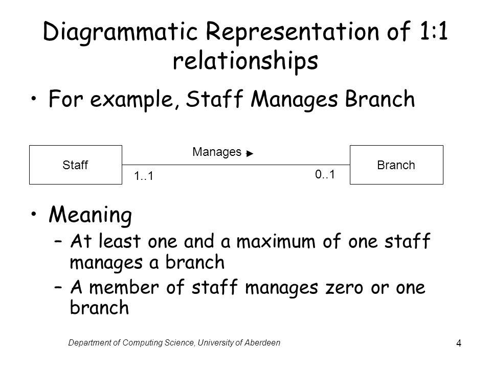 Diagrammatic Representation of 1:1 relationships