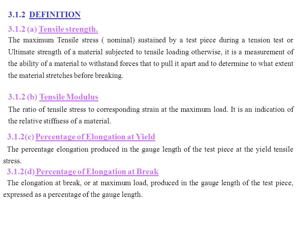 3 mechanical properties ppt download for Pull it off definition