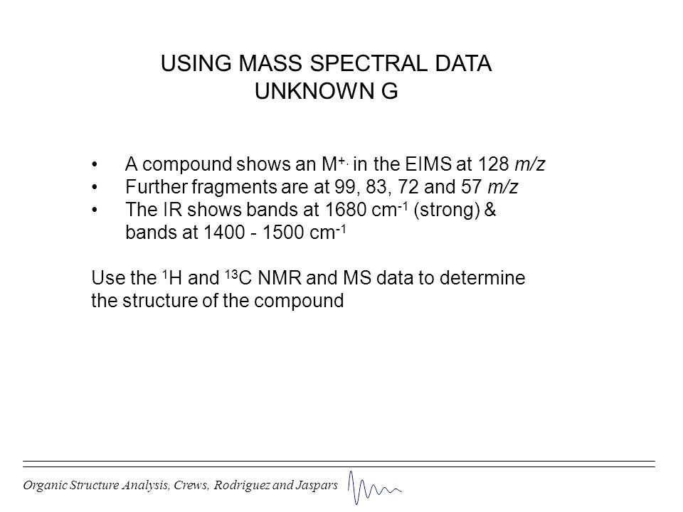 USING MASS SPECTRAL DATA