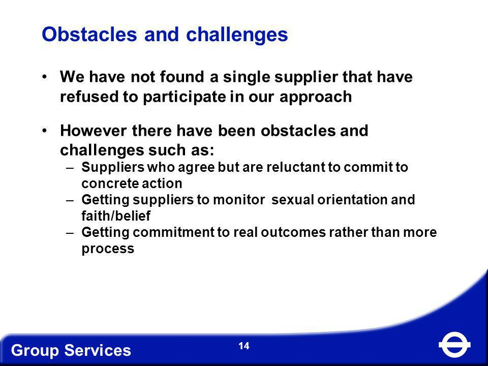 Obstacles and challenges