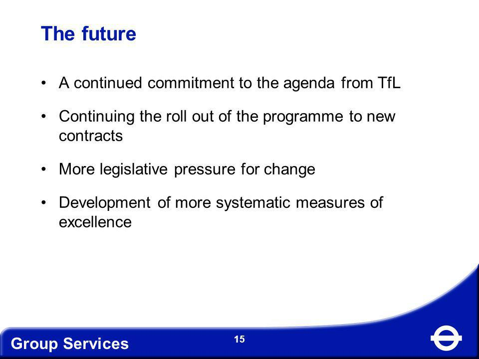 The future A continued commitment to the agenda from TfL