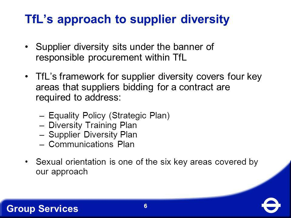 TfL's approach to supplier diversity