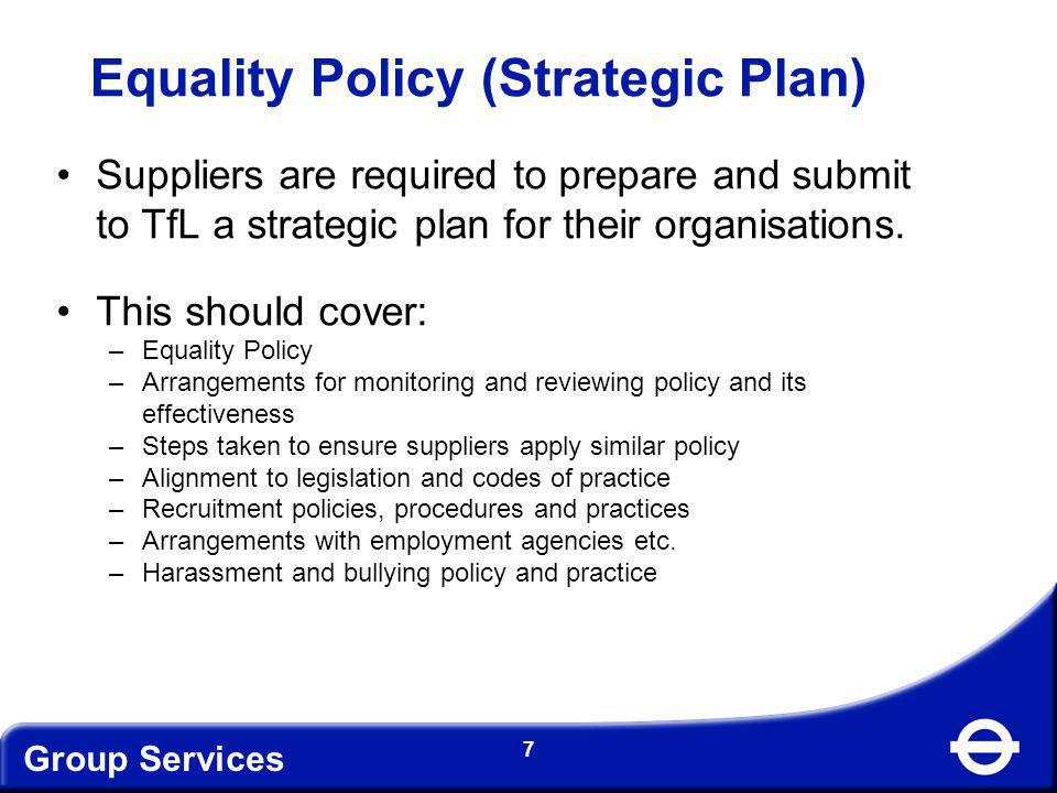 Equality Policy (Strategic Plan)