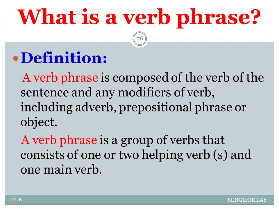 50 20 example of verb phrase