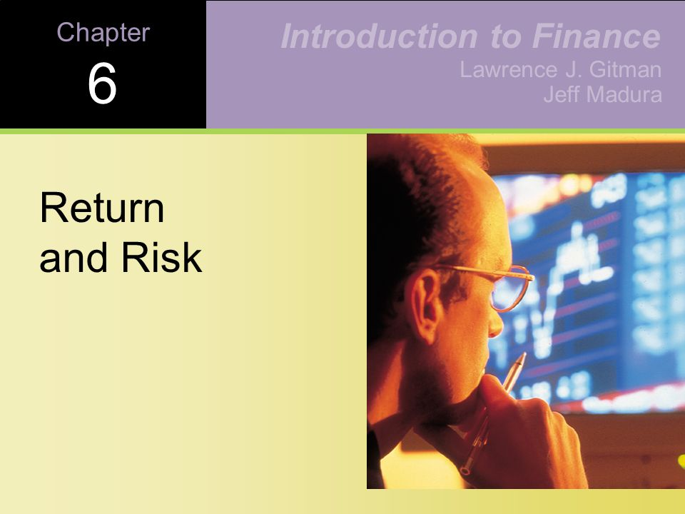 chapter 5 introduction to risk return Risk and return: capital market theory chapter 8 expected rate of return • some risk can be eliminated by diversification  • expected return = 5 (14.