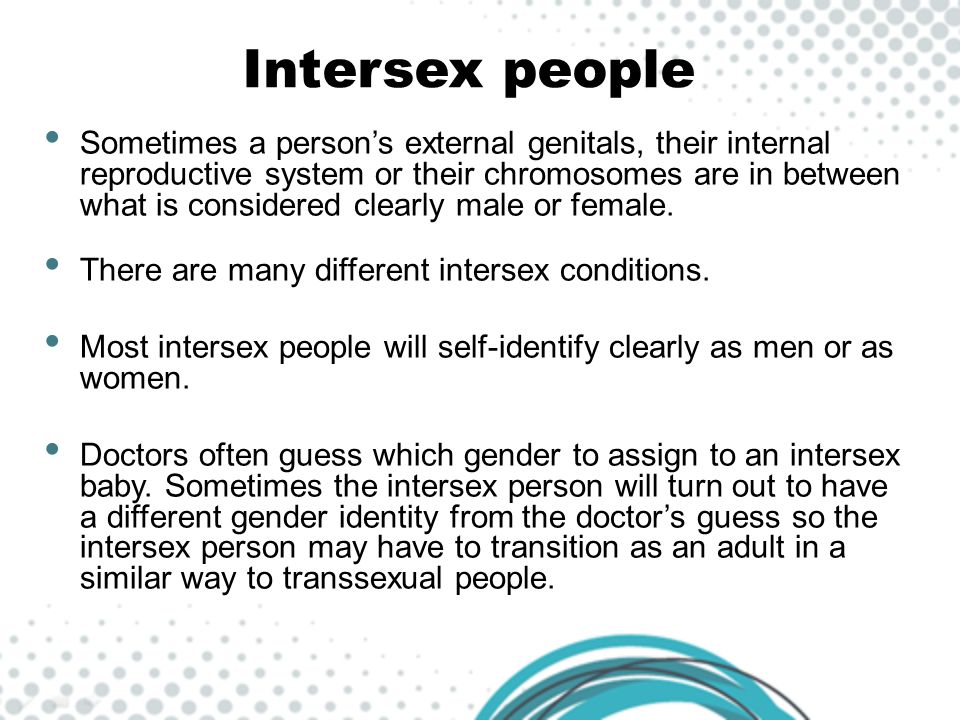 Intersex people