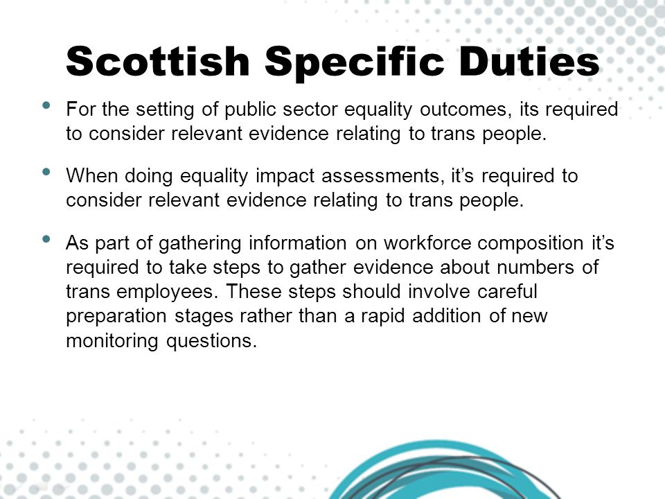 Scottish Specific Duties
