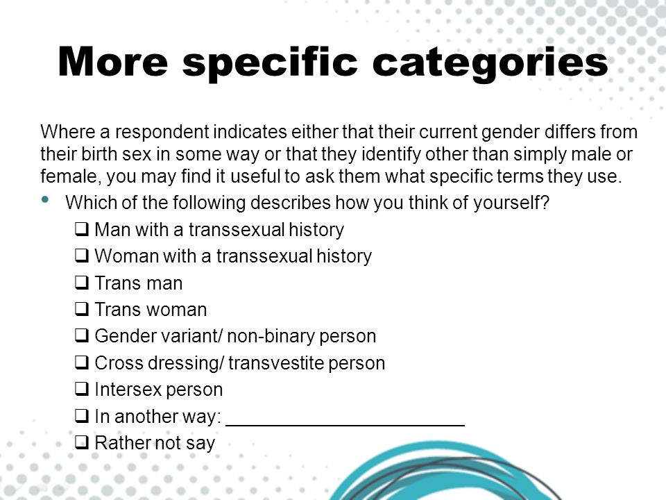 More specific categories