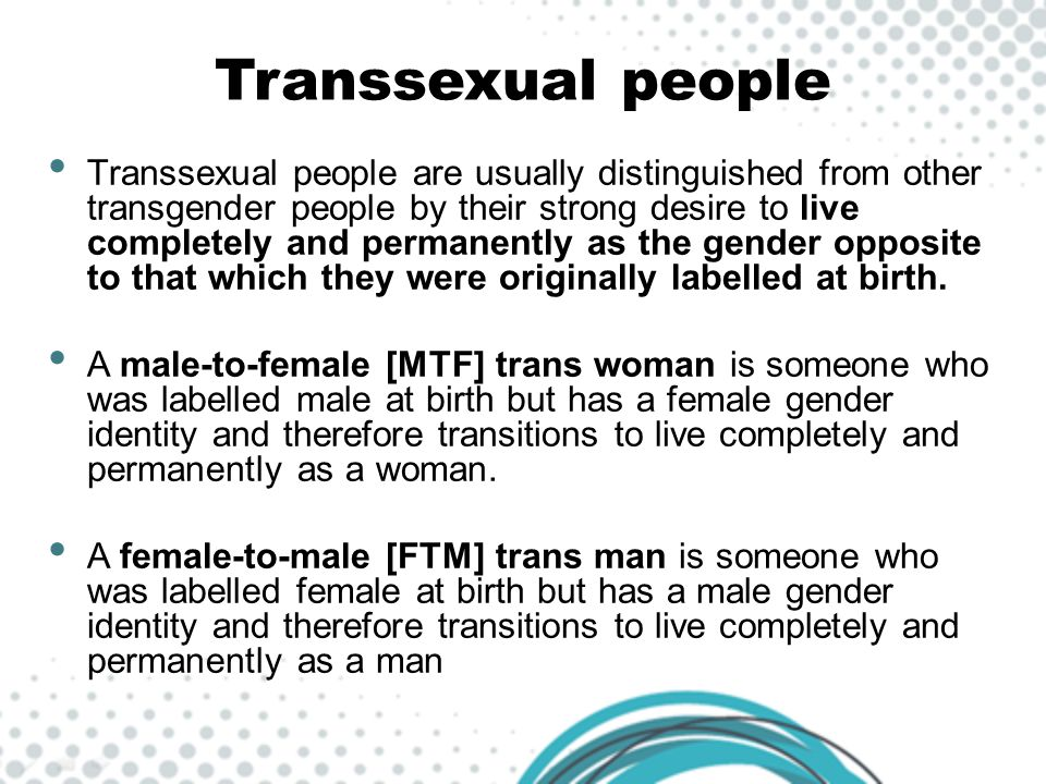 Transsexual people