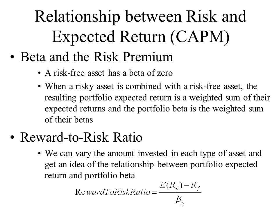 capm risk and beta 3 ceepr building blocks of the cost of capital the risk-free rate the measure of risk – in the capm, the beta the risk premium – ie, the price of risk – in the capm, the equity risk premium.