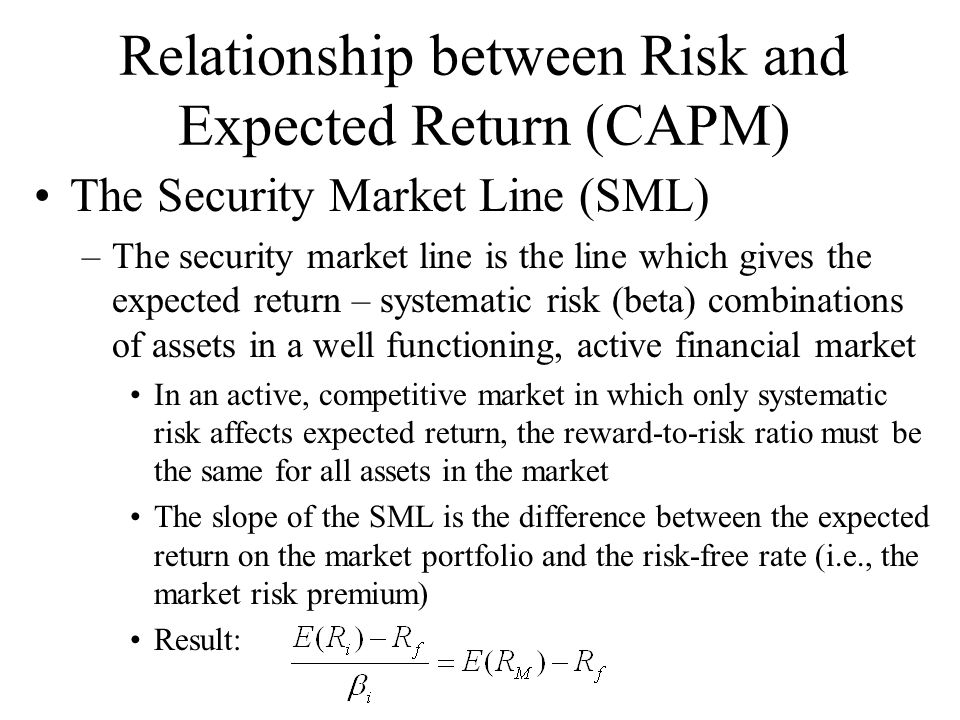what is the relationship between risk and reward