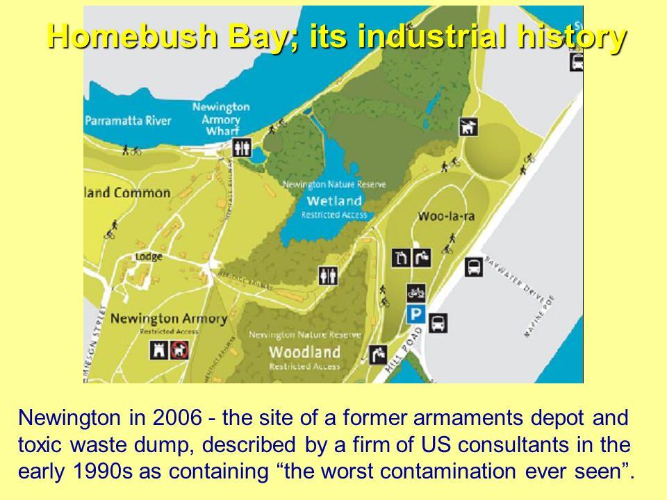 Homebush Bay; its industrial history
