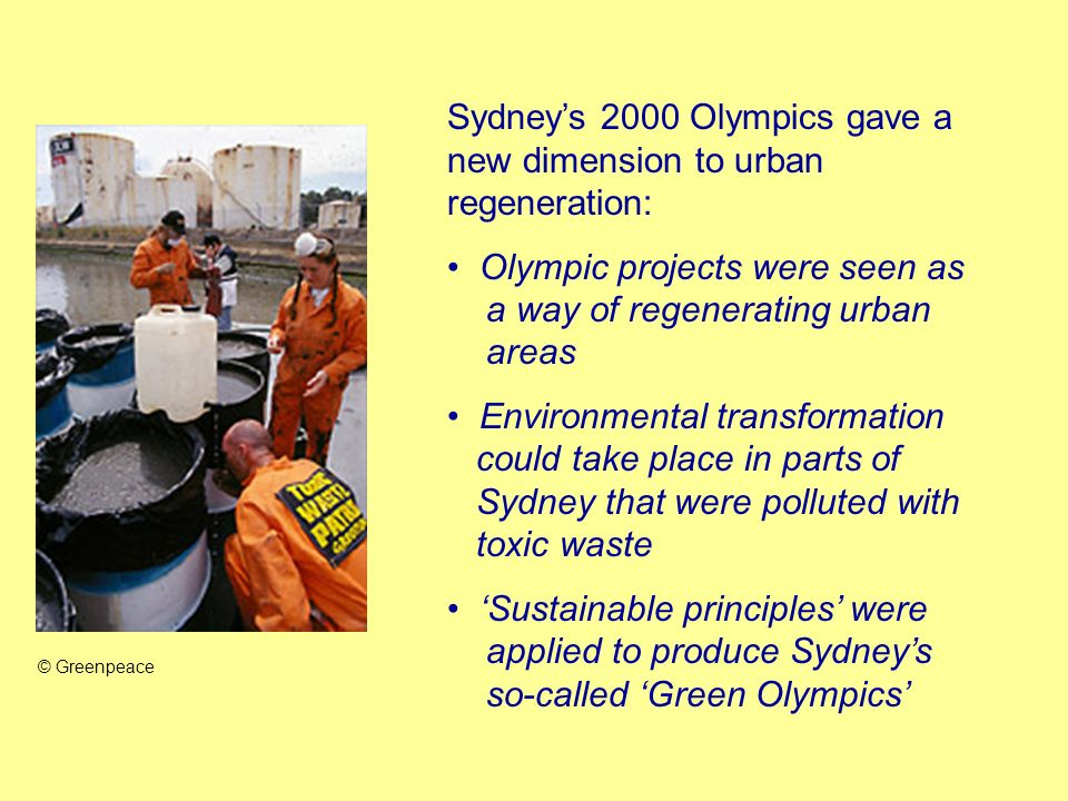 Sydney's 2000 Olympics gave a new dimension to urban regeneration: