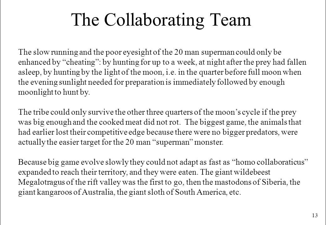 The Collaborating Team