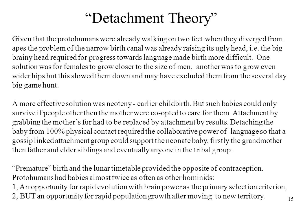 Detachment Theory