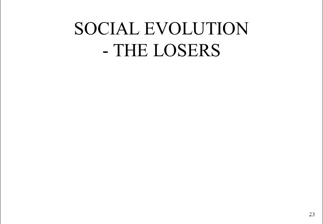 SOCIAL EVOLUTION - THE LOSERS