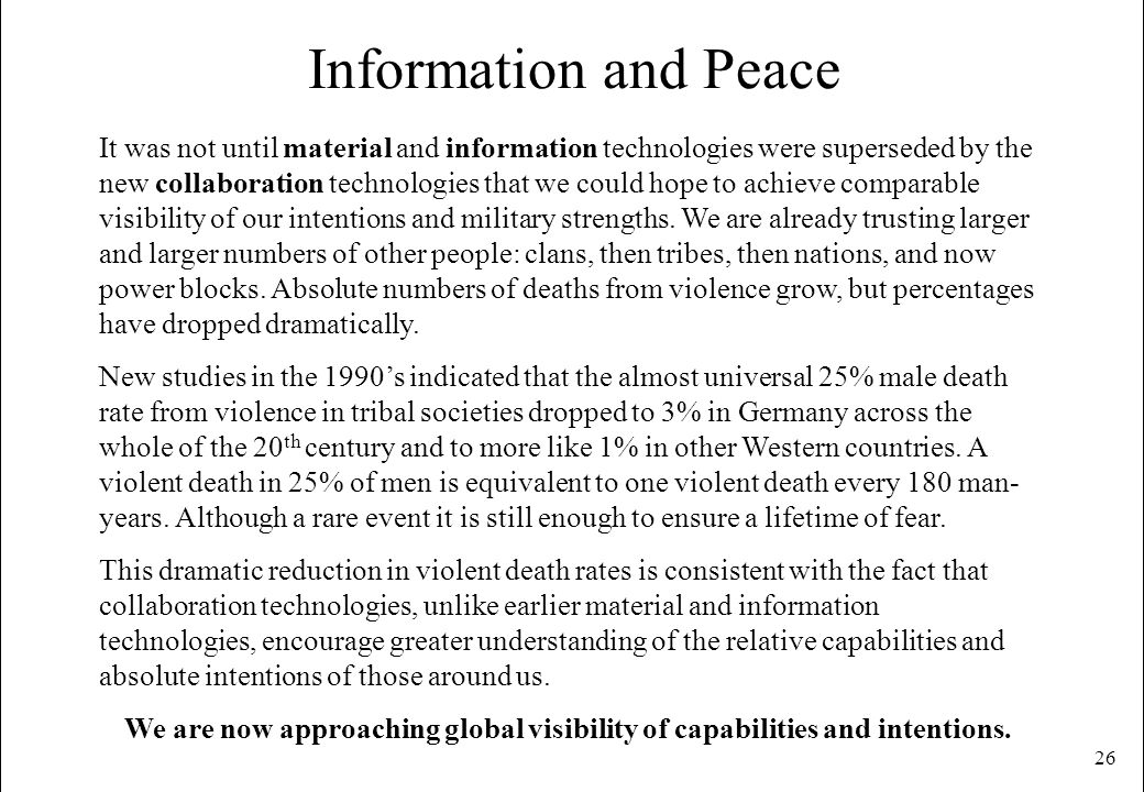Information and Peace