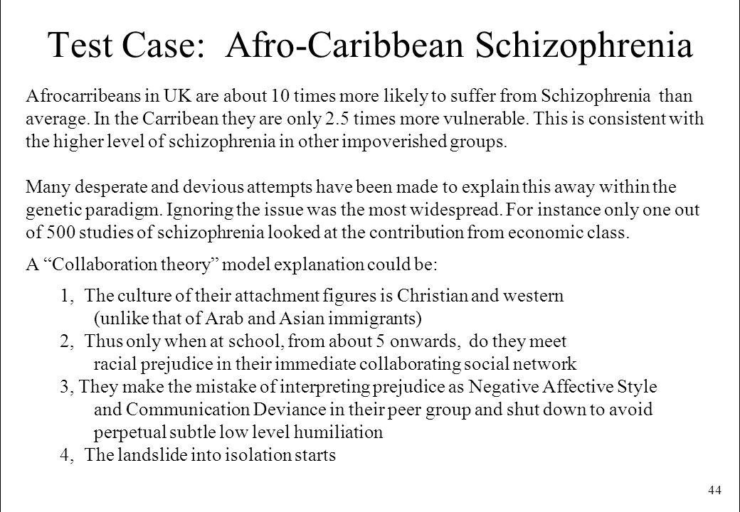 Test Case: Afro-Caribbean Schizophrenia