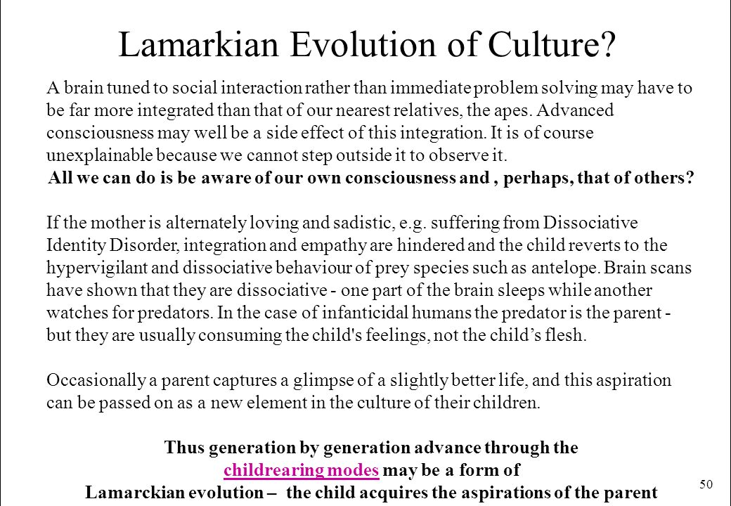 Lamarkian Evolution of Culture