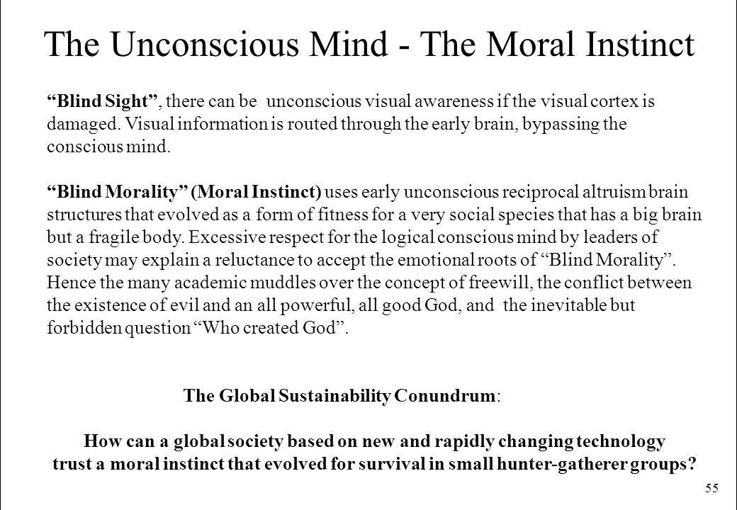 The Unconscious Mind - The Moral Instinct