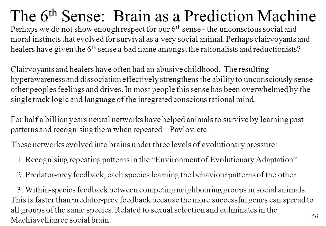 The 6th Sense: Brain as a Prediction Machine
