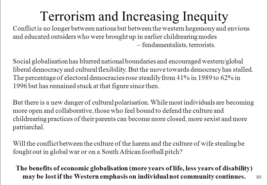 Terrorism and Increasing Inequity