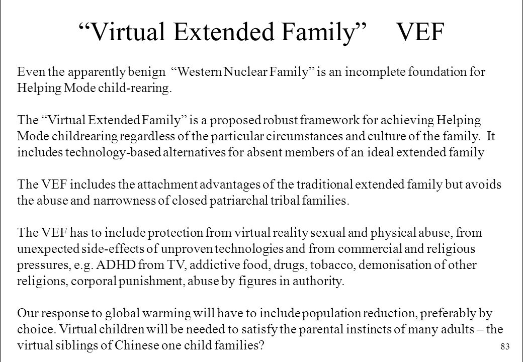 Virtual Extended Family VEF