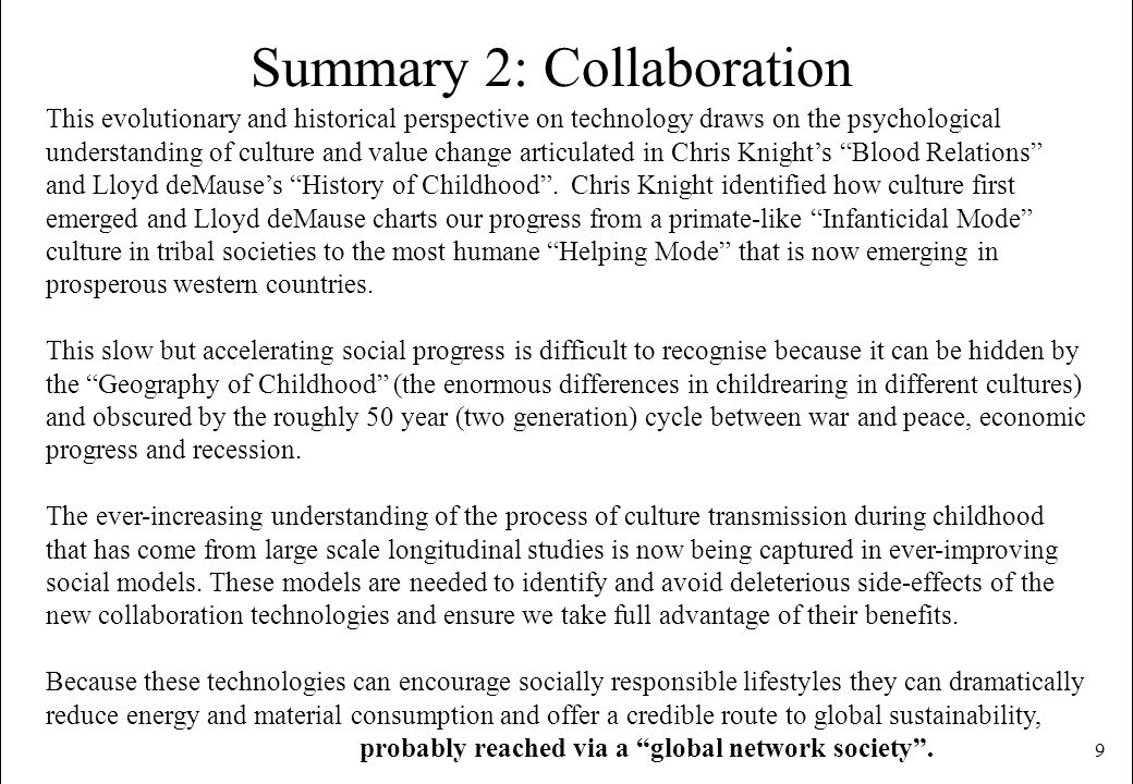 Summary 2: Collaboration