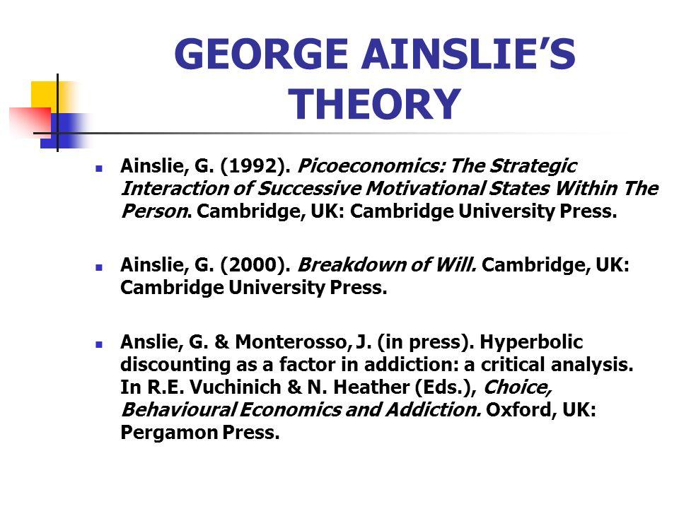GEORGE AINSLIE'S THEORY