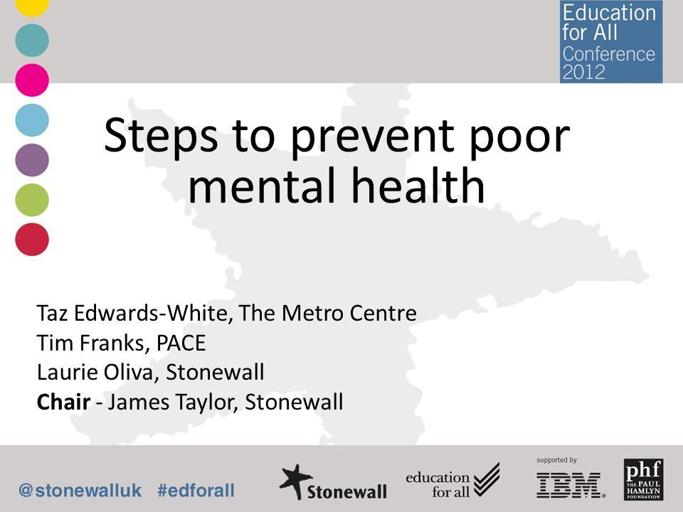 Steps to prevent poor mental health