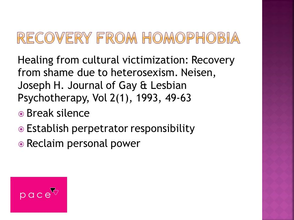 Recovery from homophobia