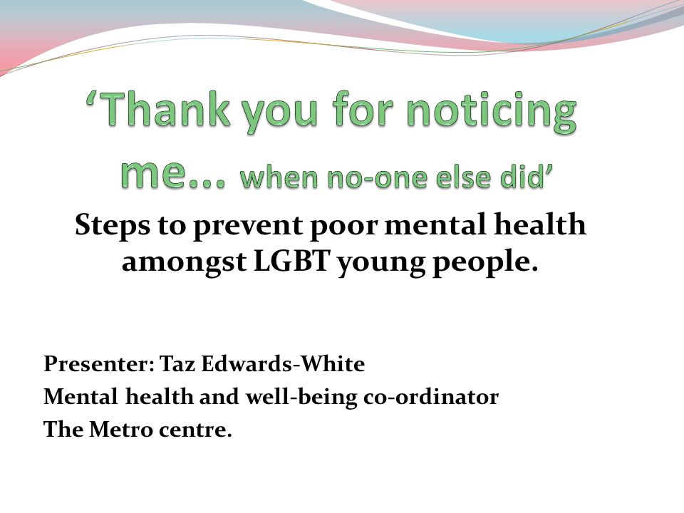 'Thank you for noticing me... when no-one else did'