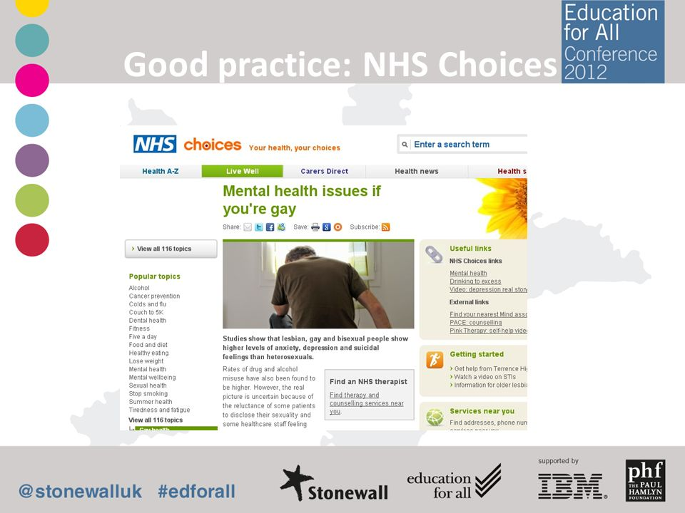 Good practice: NHS Choices