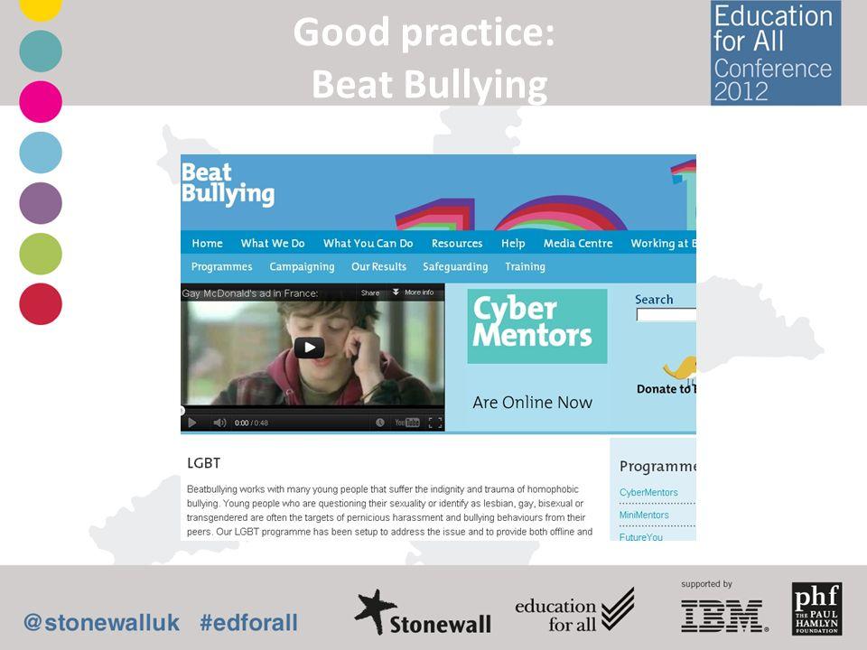 Good practice: Beat Bullying