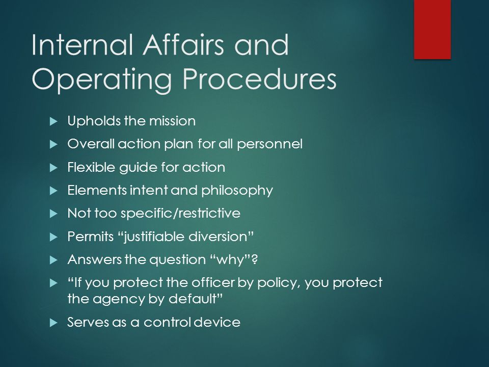 Police Internal Affairs Ppt Video Online Download