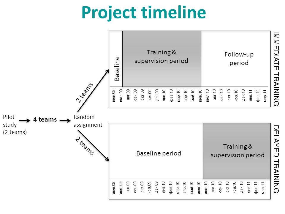 Project timeline Training & supervision period IMMEDIATE TRAINING