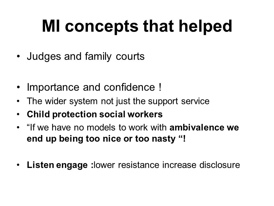 MI concepts that helped