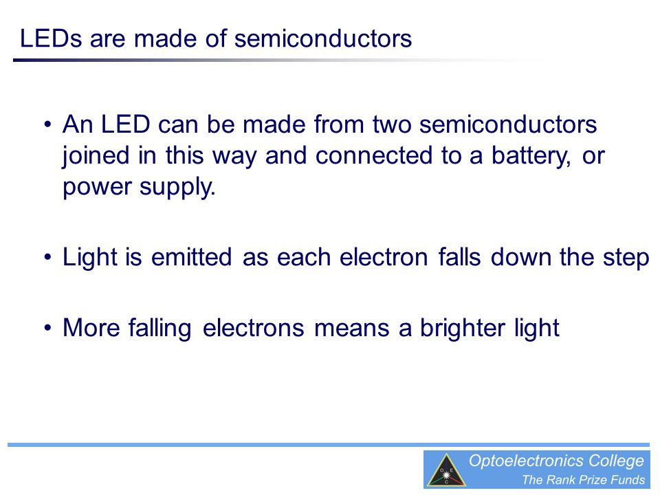 LEDs are made of semiconductors