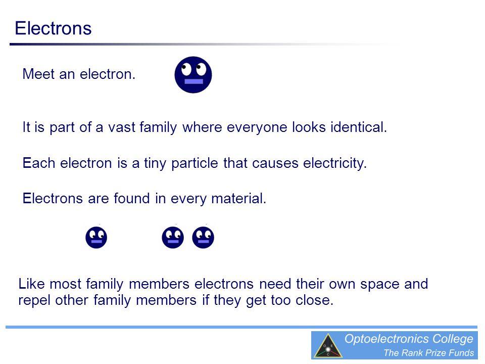 Electrons Meet an electron.